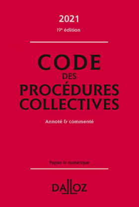 Code des procédures collectives 2021
