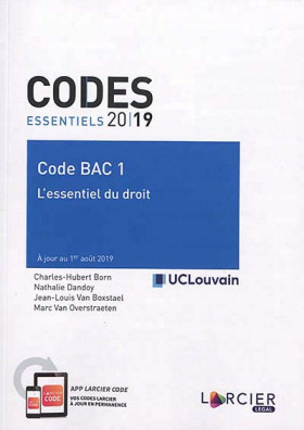 Codes essentiels 2019 - Code BAC 1