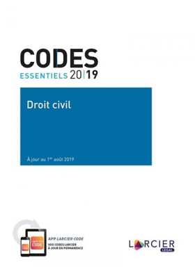 Codes essentiels 2019 - Droit civil