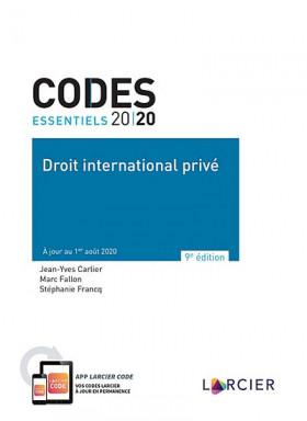 Codes essentiels - Droit international privé 2020