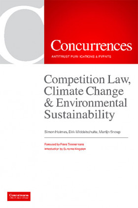 Competition Law, Climate Change & Environmental Sustainability