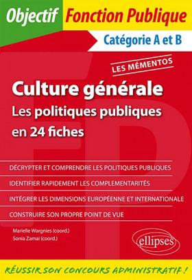 Culture générale :  les politiques publiques en 24 fiches