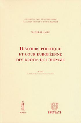 Discours politique et cour européenne des droits de l'Homme
