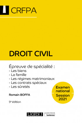 Droit civil - CRFPA - Examen national Session 2021