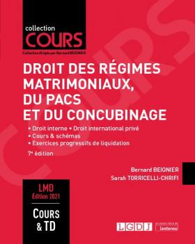 Droit des régimes matrimoniaux, du PACS et du concubinage