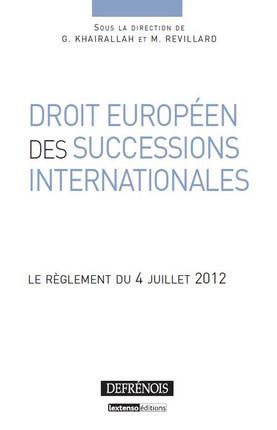 Droit européen des successions internationales
