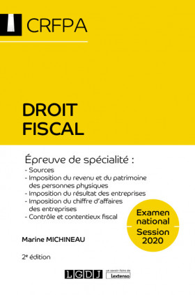 Droit fiscal - CRFPA - Examen national Session 2020
