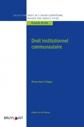 Droit institutionnel communautaire