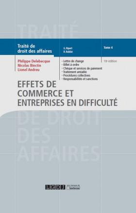 Effets de commerce et entreprises en difficulté