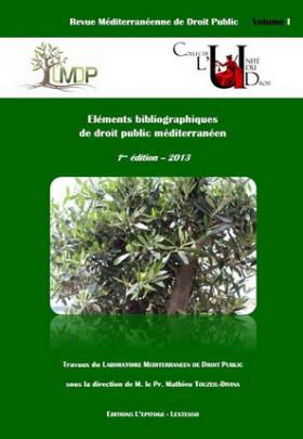 Fondation du LM-DP. Éléments bibliographiques de droit public méditerranéen
