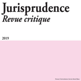 Jurisprudence - Revue critique 2019