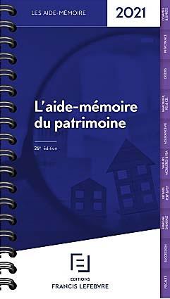 L'aide-mémoire du patrimoine 2021