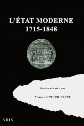 L'Etat moderne 1715-1848