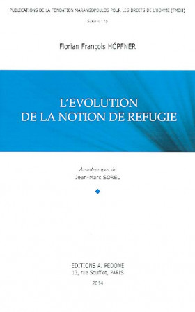 L'évolution de la notion de réfugié