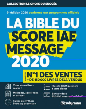 La bible du Score IAE Message 2020