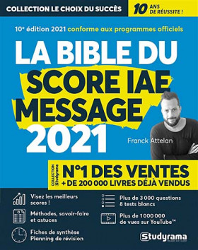 La bible du Score IAE Message 2021