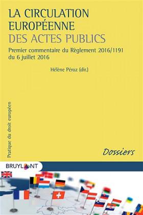 La circulation européenne des actes publics