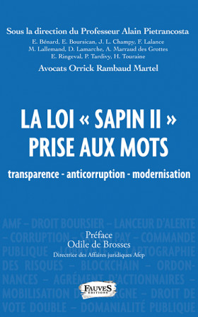 "La loi ""Sapin II"" prise aux mots"
