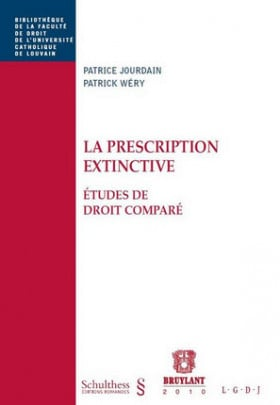 La prescription extinctive - Études de droit comparé