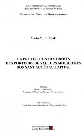 La protection des droits des porteurs de valeurs mobilières donnant accès au capital