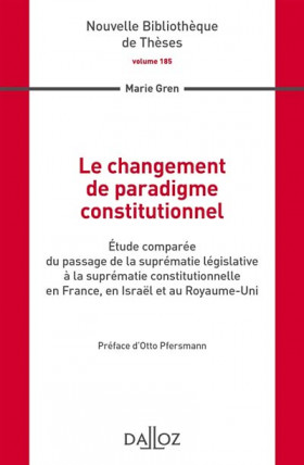 Le changement de paradigme constitutionnel