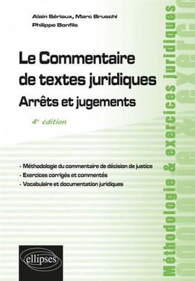 Le commentaire de textes juridiques