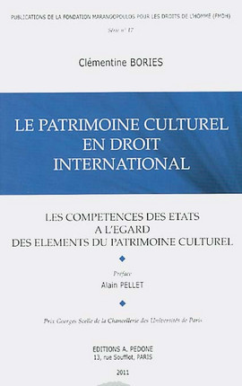 Le patrimoine culturel en droit international