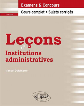 Leçons d'institutions administratives