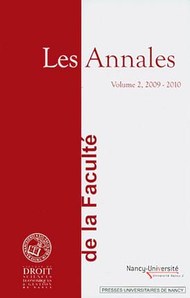Les Annales de la Faculté de Droit, Sciences Economiques & Gestion de Nancy 2009-2010