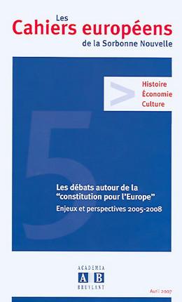 Les Cahiers européens de la Sorbonne Nouvelle, avril 2007 N°5