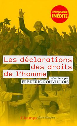 Les déclarations des droits de l'homme