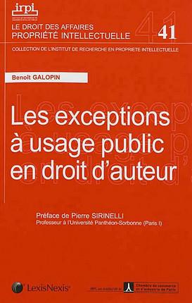 Les exceptions à usage public en droit d'auteur
