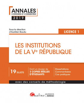 Les institutions de la Ve République L1