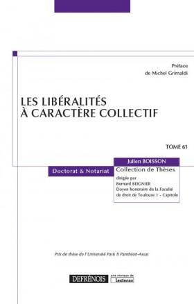 Les libéralités à caractère collectif