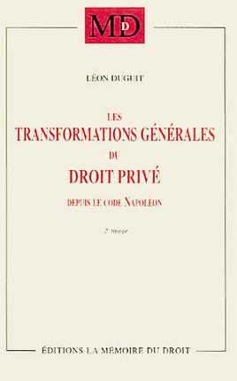 Les transformations générales du droit privé