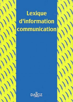 Lexique d'information communication