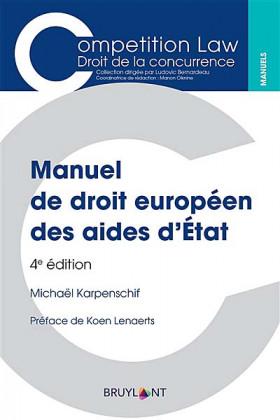 Manuel de droit européen des aides d'État