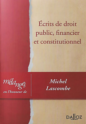 Écrits de droit public, financier et constitutionnel