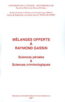 Mélanges offerts à Raymond Gassin