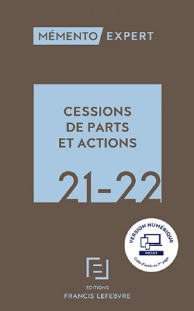 Mémento cessions de parts et actions 2021-2022