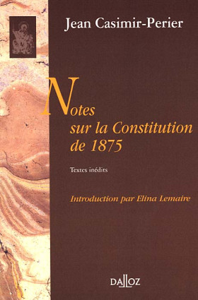 Notes sur la constitution de 1875