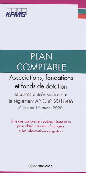 Plan comptable associations, fondations et fonds de dotation