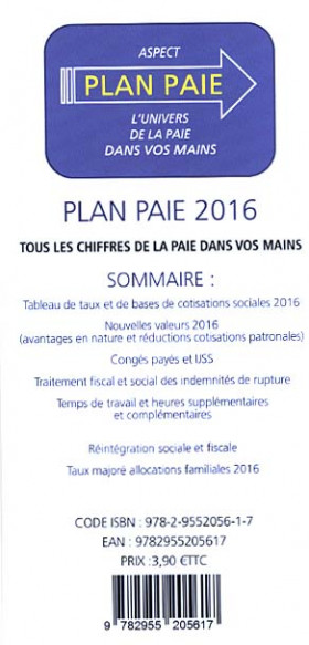 Plan paie 2016 (dépliant recto-verso)
