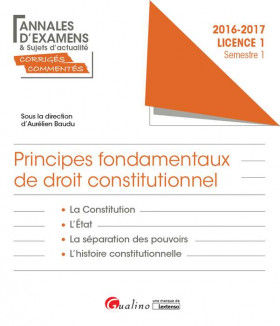 Principes fondamentaux de droit constitutionnel L1-S1