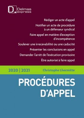 Procédures d'appel 2020-2021