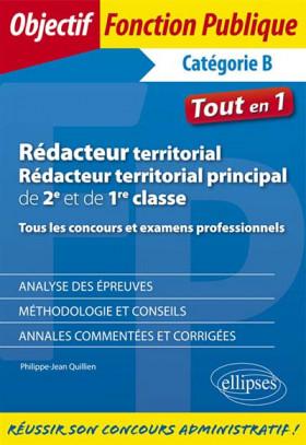 Rédacteur territorial - Rédacteur principal de 1re et 2e classe