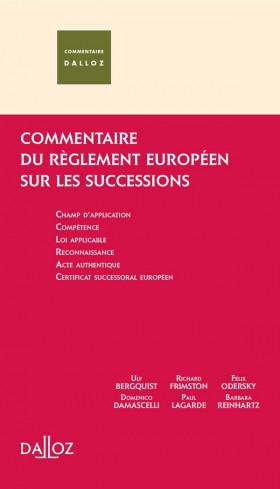 Commentaire du règlement européen sur les successions