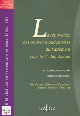 Rénovation des pouvoirs budgétaires du Parlement sous la Ve République
