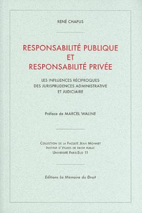 Responsabilité publique et responsabilité privée