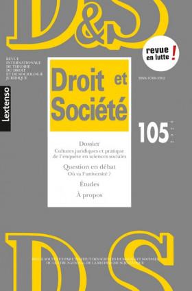 Revue Droit et Société, 2020 N°105